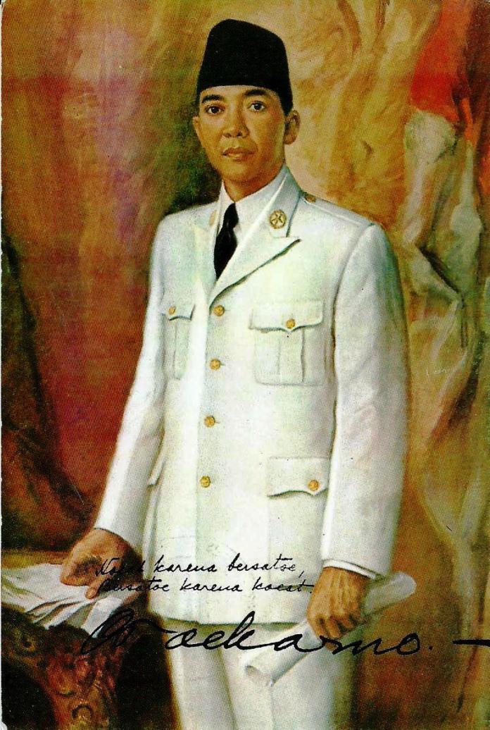 Soekarno - Painter by Basuki Abdullah, Postcard by PFI Jawa Timur, postdated (20.08.16)