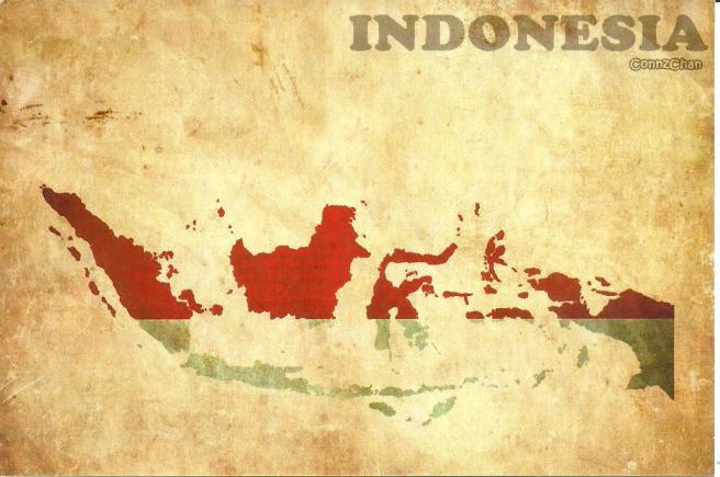 Map of Indonesia | Postcard by The Cards Company, 2015