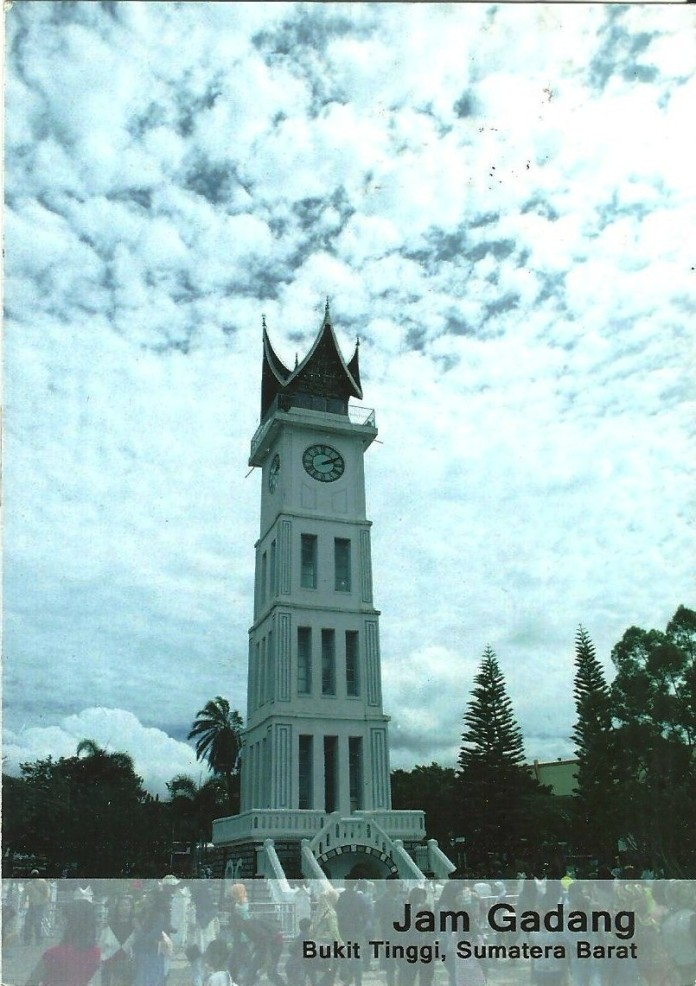 Jam Gadang Bukit Tinggi, Sumatera Barat, selfprinted postcard, 2016