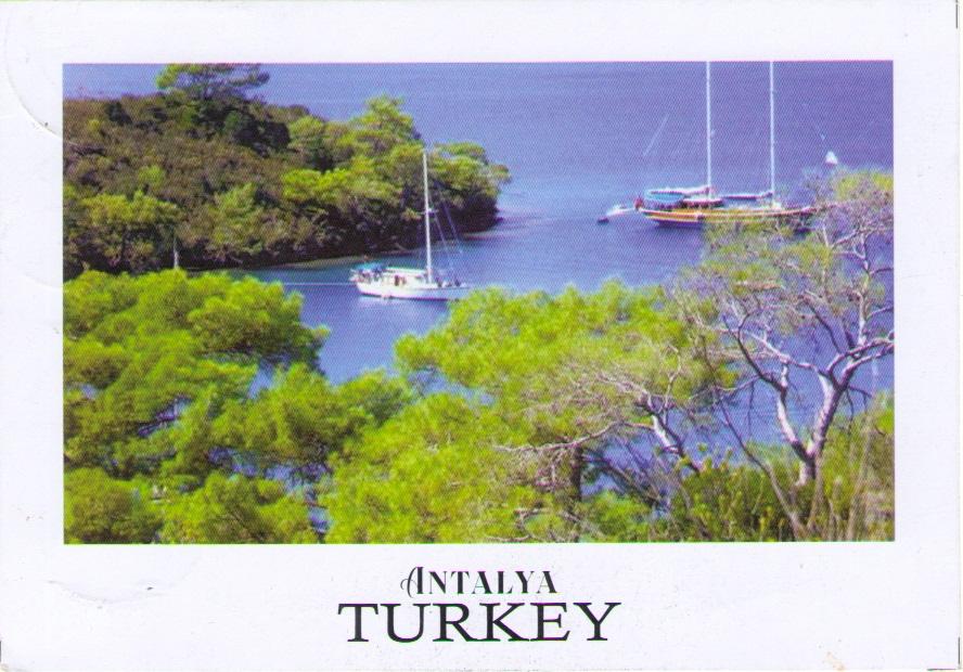 Antalya Turkey, Self Digital Printing. Postcard by Yuni Kristianingsih. Undivided & Used,. Sent from Ponorogo (04.02.20)